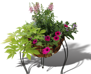 Pre-made flower containers by Homestead Garden Center adds instant color!